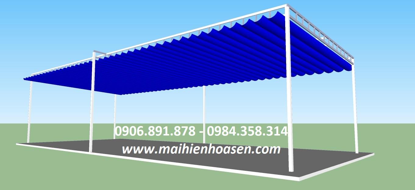 Mái xếp 3D xanh